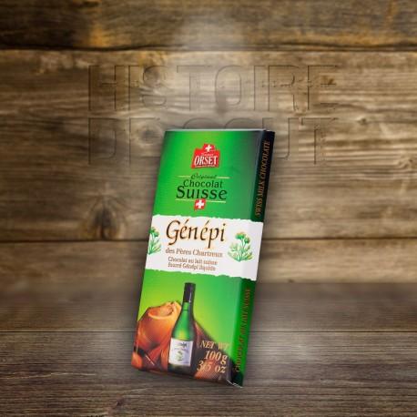 Chocolat Suisse au lait fourrŽ au GŽnŽpi liquide