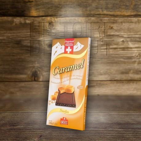 Chocolat Surfin noir avec Žclats de caramel